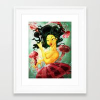 skyfall Framed Art Prints featuring Skyfall by Priscilla Peeters