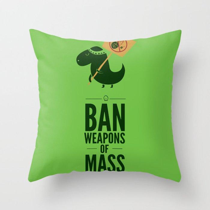 Occupy Jurassic Park Throw Pillow