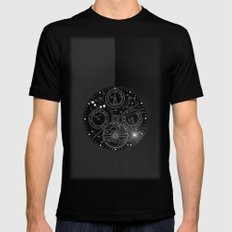TIME Black Mens Fitted Tee SMALL