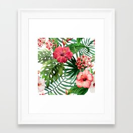 FLOWERS WATERCOLOR 8 Framed Art Print