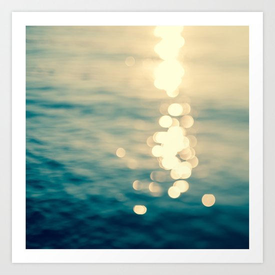 Blurred Tides Art Print