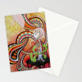 boy: heart stop Stationery Cards