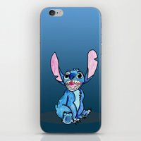 lilo and stitch iPhone & iPod Skins featuring Stitch by DROIDMONKEY