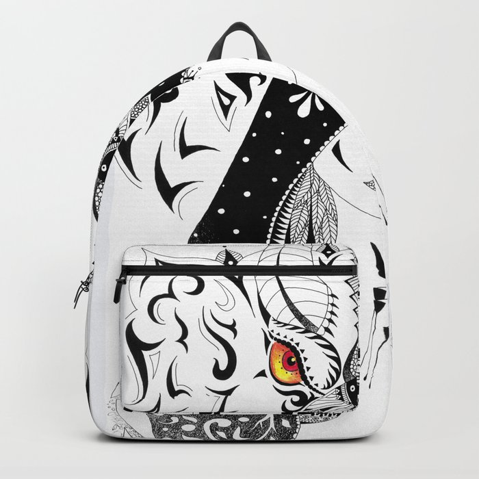 AfetMirzayeva Abstract Surrealism Drawing Illustration Backpack