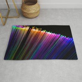rainbow fan Rug