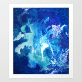 Nihal - Abstract Costellation Painting Art Print