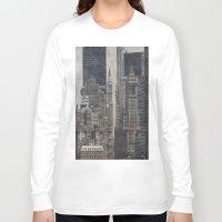 concrete Long Sleeve T-shirts featuring Concrete Jungle by Christine Workman