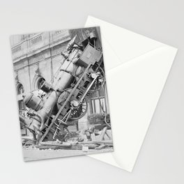 Train Wreck At Montparnasse Station - 1895 Stationery Cards