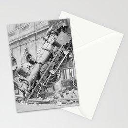 Train Wreck At Montparnasse Station - 1895 Stationery Cards