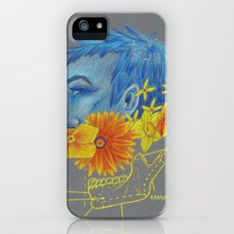 Flower and Bones 1 iPhone Case