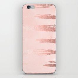 Rosegold Pink Stripes II iPhone Skin