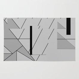 Grey Triangles Pattern Rug