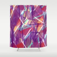 plaid Shower Curtains featuring Plaid Deconstructed by k_c_s