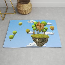New City in the Sky Rug