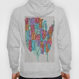 USA in color Hoody