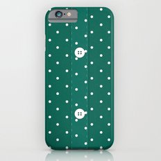 Green Polka Dot Button Up iPhone 6s Slim Case