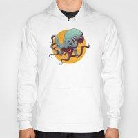 octopus Hoodies featuring Octopus by Calavera