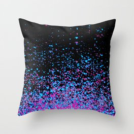 infinity in blue and purple Throw Pillow