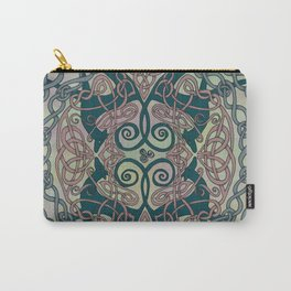 Art Nouveau Greyhounds - Pale Green Carry-All Pouch