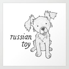 Dog Breeds: Russian Short Haired Terrier Art Print