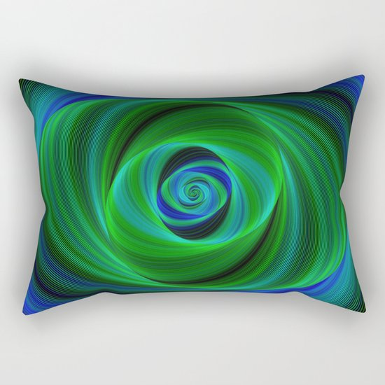 Green blue infinity Rectangular Pillow