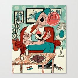 Joe at Home Canvas Print