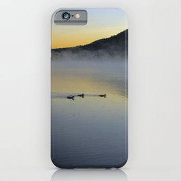 Serene Morning on Lake George iPhone Case