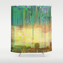 Atlante / CITIES over CITIES Shower Curtain