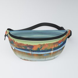 Colors of Autumn By the Water Fanny Pack