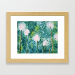 Abstract Dandelions WISH Framed Art Print