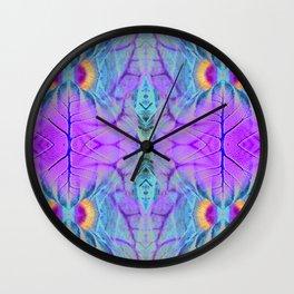 Leafy Pandanus Wall Clock