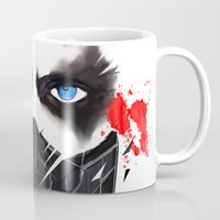 bucky barnes Mugs featuring Bucky Barnes by akaori_art