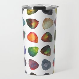 Guitar Picks Watercolor Travel Mug