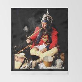 Seneca Tribe Native American 1730 Throw Blanket