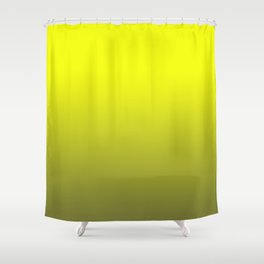 Lemon yellow, olive, gradient Shower Curtain