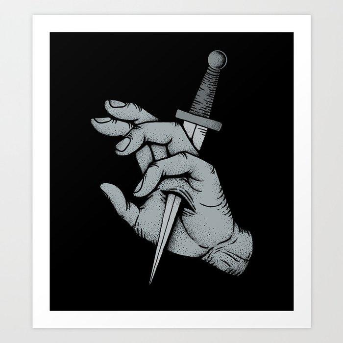 Stabbed Art Print