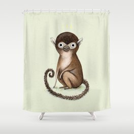 Squirrel Monkey Shower Curtain