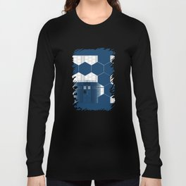 Tardis Shadow Blue Box Long Sleeve T-shirt