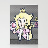 princess peach Stationery Cards featuring Princess Peach by Ace_Drawz