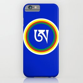 Dzogchen Tibetan Letter A Symbol Buddhism Meditation iPhone Case