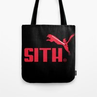 sith Tote Bags featuring Brand Wars: Sith by Barn Bocock