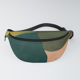 The Colliding Of Two Greens Fanny Pack