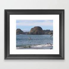 BeachV Framed Art Print