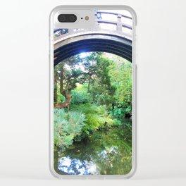 Bridge of serenity Clear iPhone Case