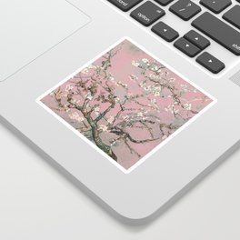 Almond Blossom - Vincent Van Gogh (pink pastel) Sticker