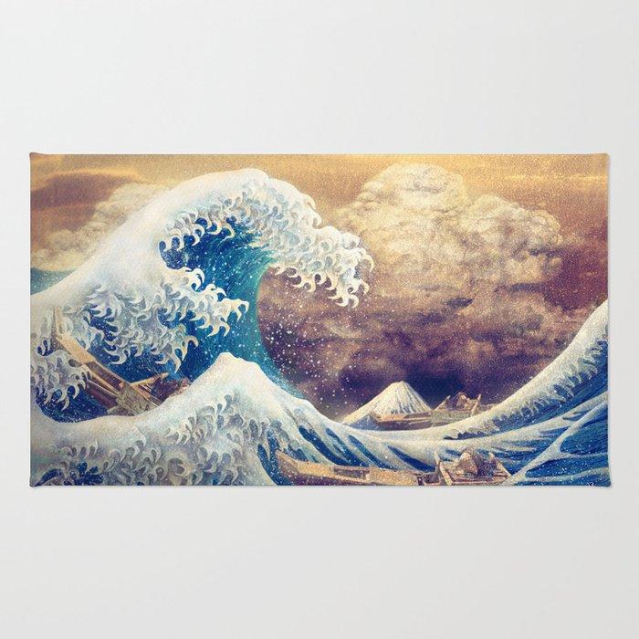 The Great Wave off Kanagawa Rug