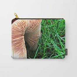 Mushroom and Dewdrops Carry-All Pouch
