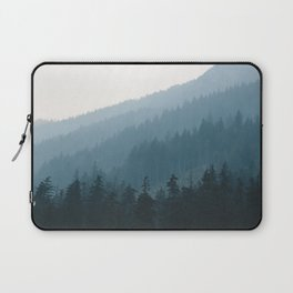 Hazy British Columbia Mountains Laptop Sleeve