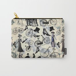 Victorian Bicycles and Fashion Carry-All Pouch
