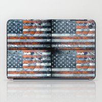 american flag iPad Cases featuring American flag by Bekim ART